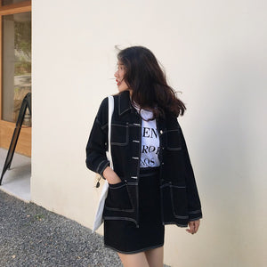 A-914 Jacket and Skirt Denim Co-ord
