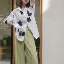 Load image into Gallery viewer, A-1004 Cowhide Print Blouse