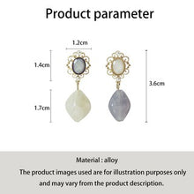 Load image into Gallery viewer, C-1096 French Assymetrical Wild Jade Earrings