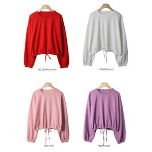 A-932 Cropped String Sweater