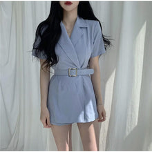 Load image into Gallery viewer, A-936 Belted Blazer Romper