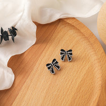 Load image into Gallery viewer, C-1496 Pearl Stud Bow Earrings