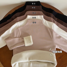 Load image into Gallery viewer, A-1022 Velvet Semi-High Collar Neck Top