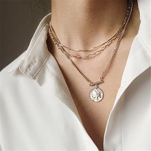 Load image into Gallery viewer, C-1424 3-Layer Set Multilayer Clavicle Sweater Chain Necklace