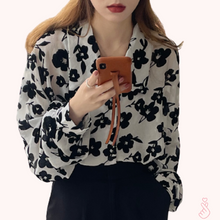 Load image into Gallery viewer, A-1028 Retro Print Blouse