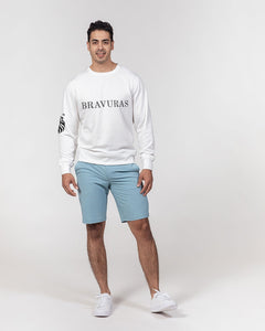 BRAVURAS Men's Classic French Terry Crewneck Pullover