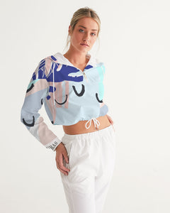 Spring Women's Cropped Windbreaker