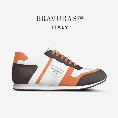 BRAVURAS Italy Vintage Running Trainers (ORANGE & BROWN EDITION)