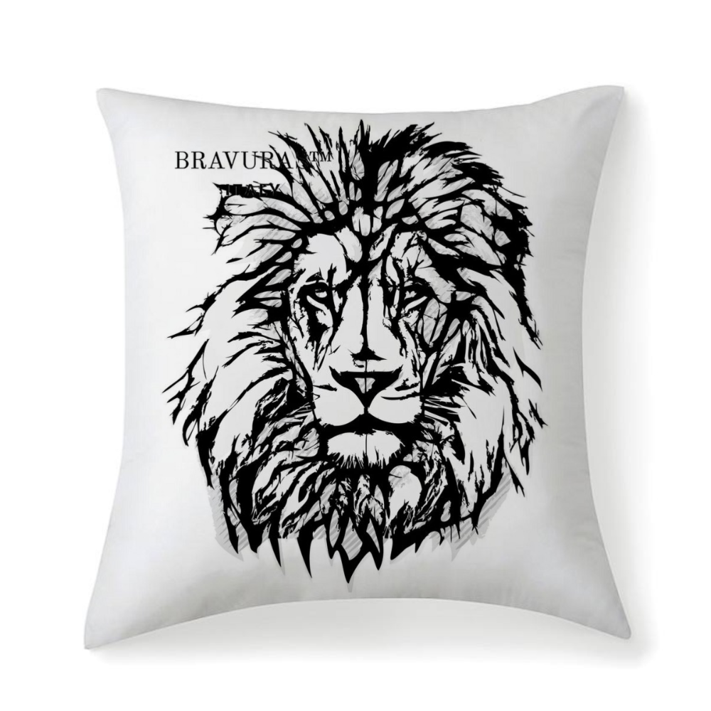 BRAVURAS Italy Multisized Premium Microfiber Fabric Throw Square Pillow Covers High Elastic Polypropylene Cotton Insert