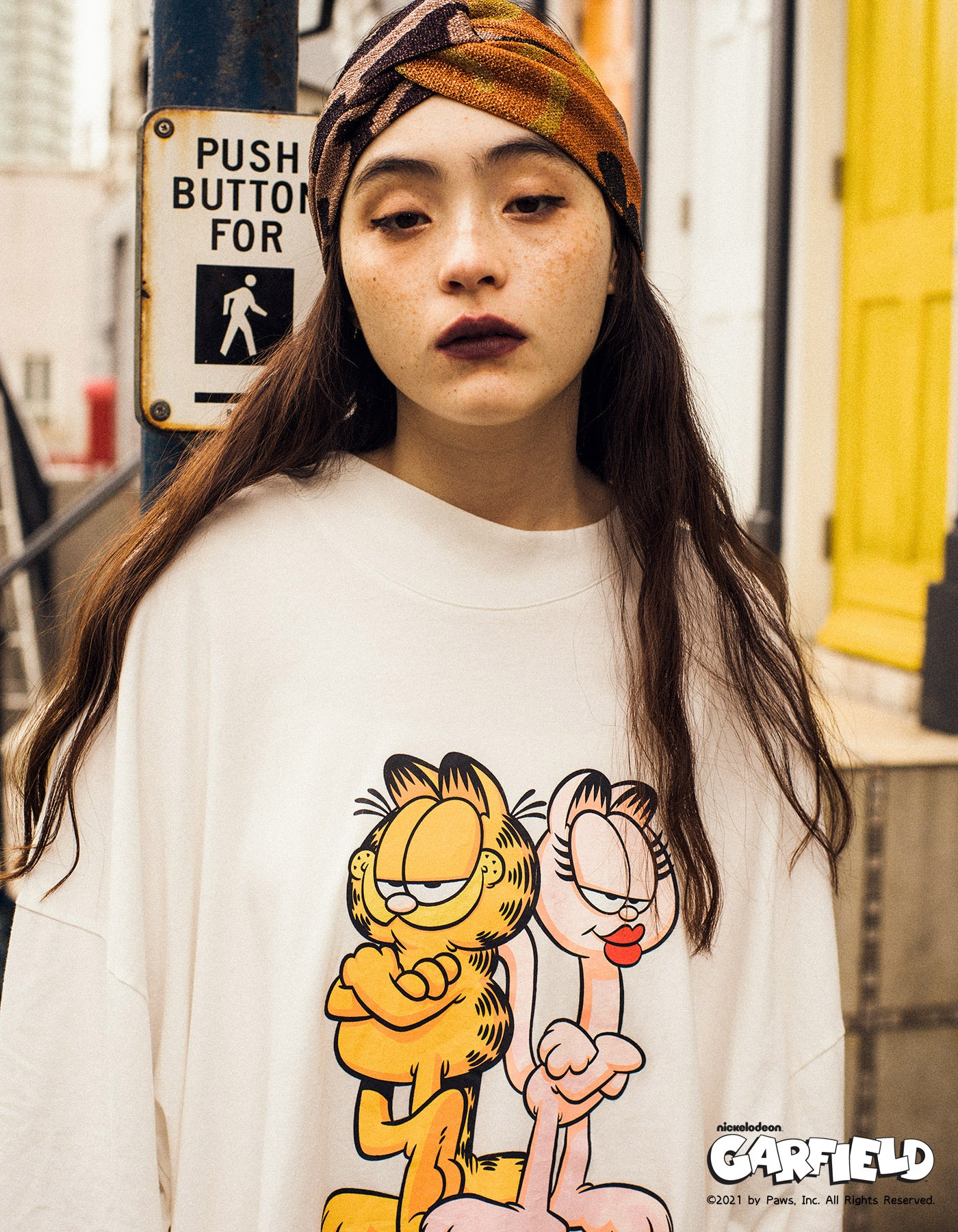little sunny bite x Garfield Long tee / WHITE