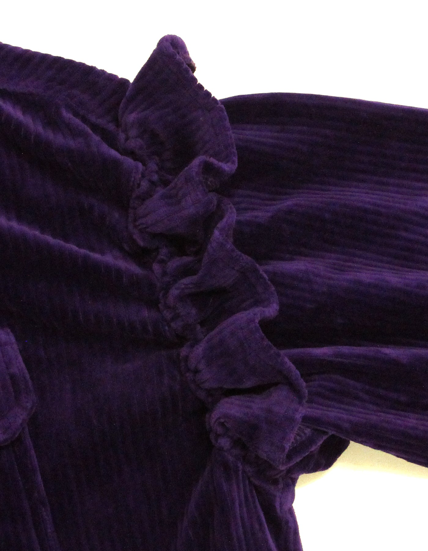 Corduroy big shirts / PURPLE
