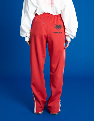 TRACK PANTS / RED