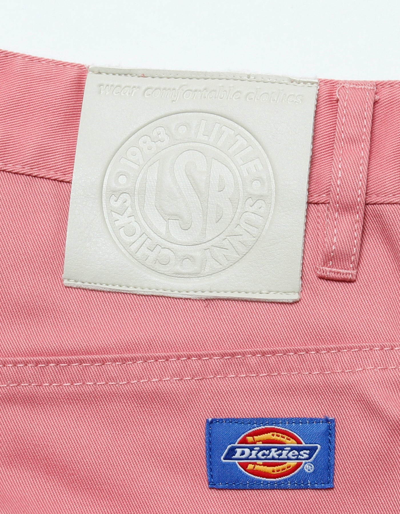 Dickes X LITTLE SUNNY BITE : Work pants / PINK