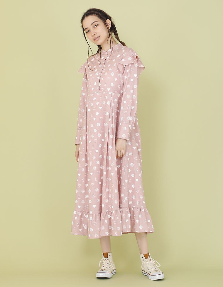 LSB ORIGINAL HEMP DRESS / PINK