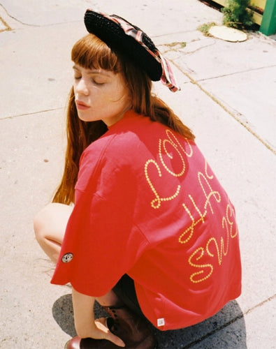 4 HEARTS BIG TEE / RED