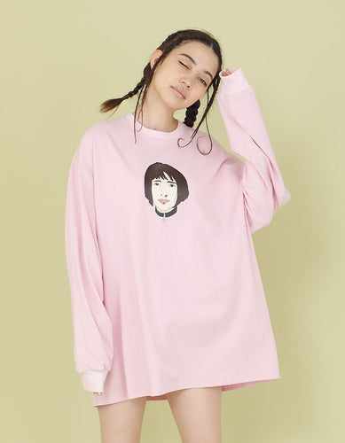 NOSEBLEED GIRL LONG TEE / PINK