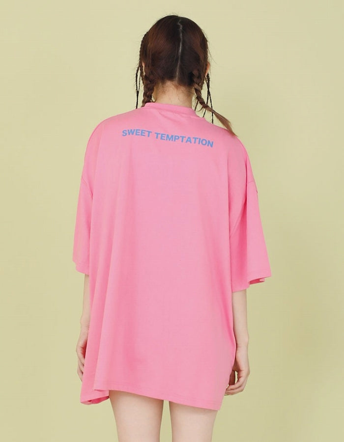 TOO MUCH LOVE BIG TEE / PINK