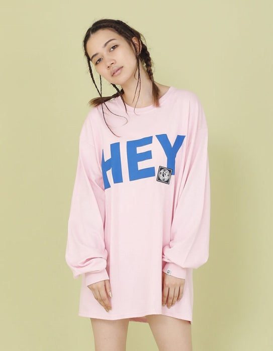 HEY YO LONG TEE / PINK