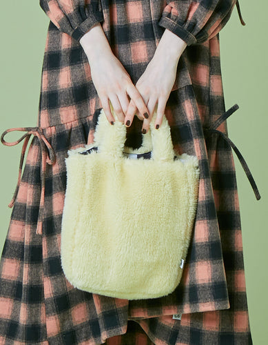 Fur mini bag / YELLOW