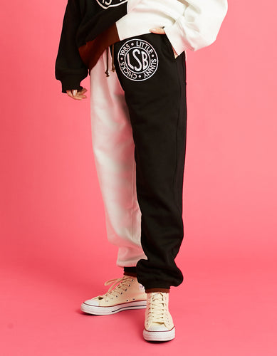 LSB logo sweat pants / BLACK