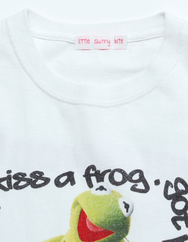 【PRE ORDER】Kermit message big tee  Hollywood /WHITE