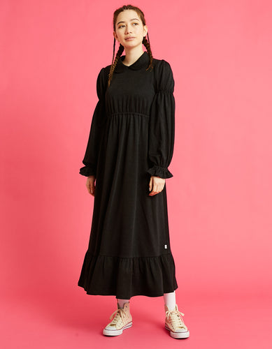 Long girly dress / BLACK