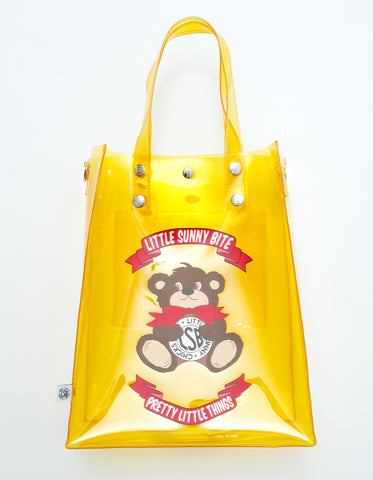 Cutie bear LSB logo pvc bag / YELLOW