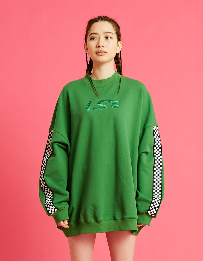 LSB high neck sweat dress / GREEN