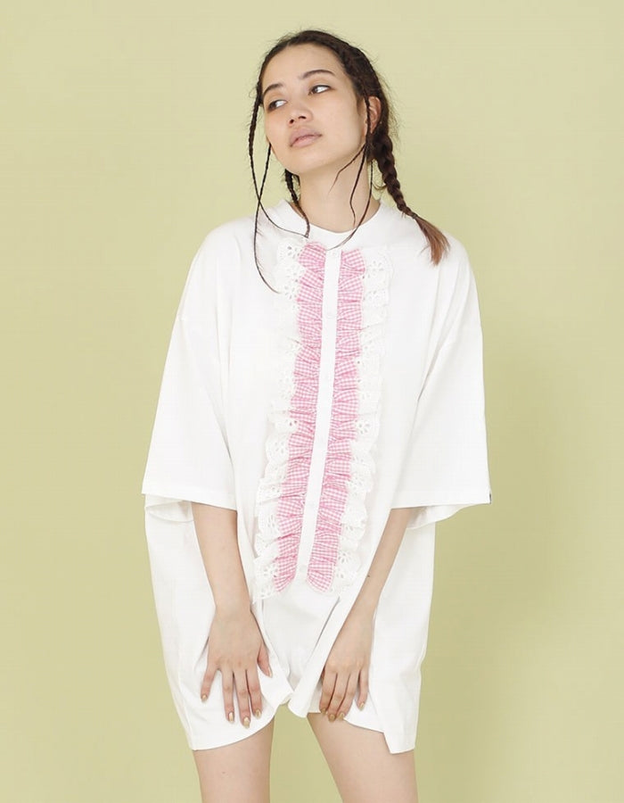 FRILL BIG TEE / WHITE