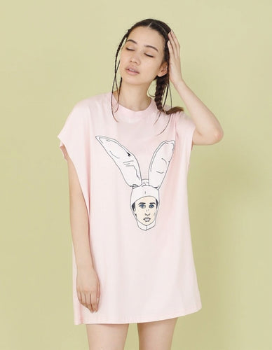 RABBIT BOY TANK TOP / PINK