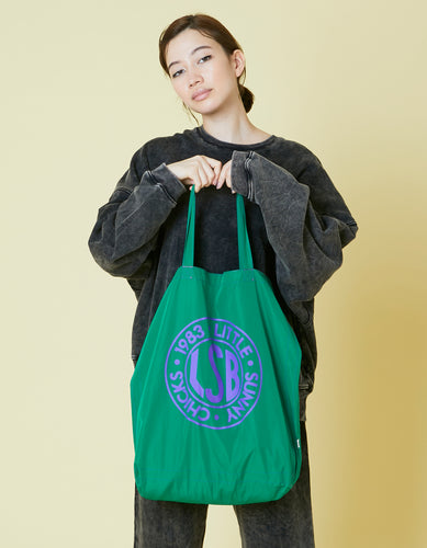 LSB logo nylon tote bag / GREEN
