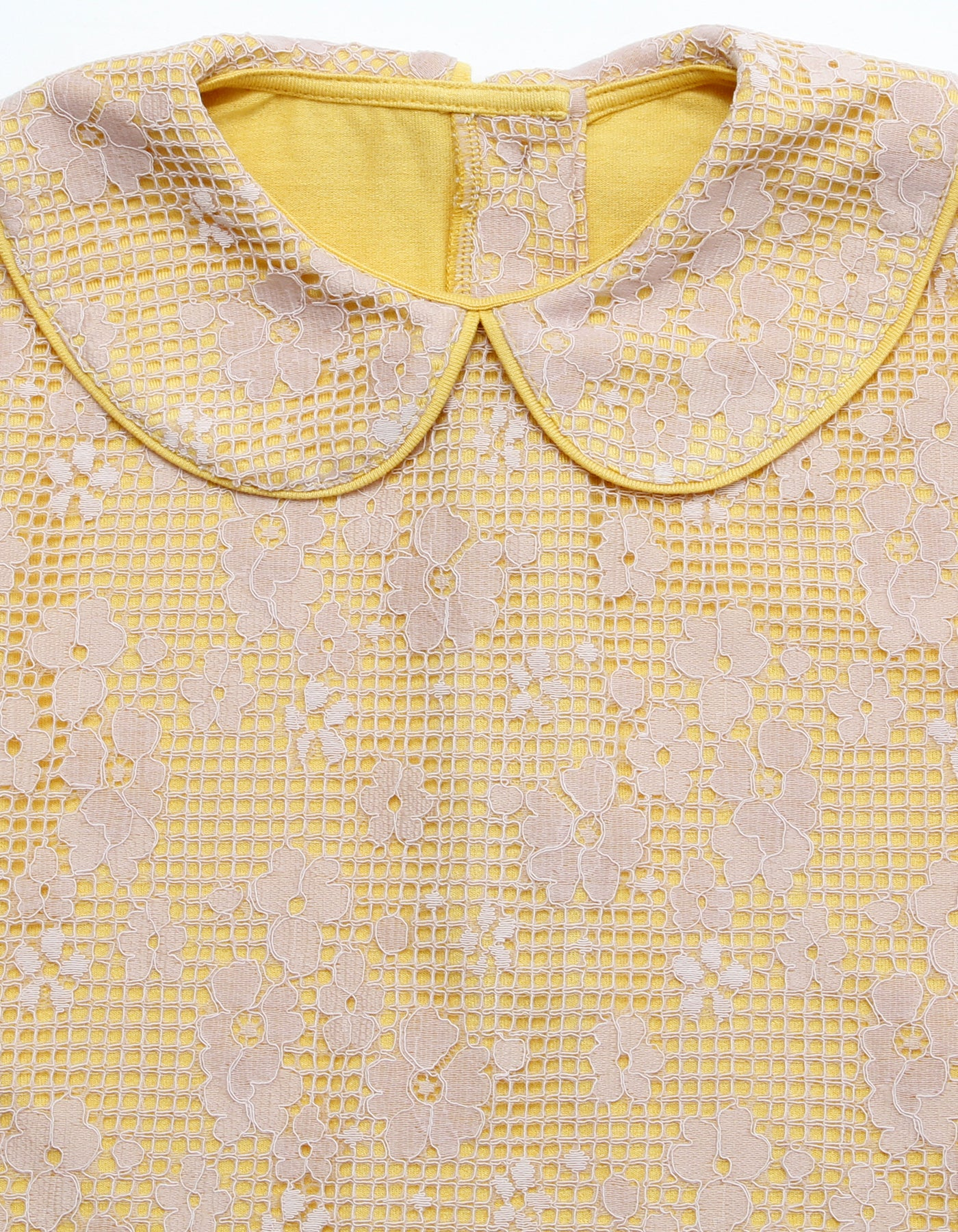 Lacy no sleeve top / YELLOW