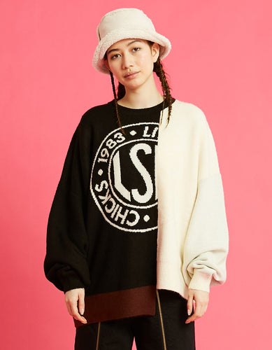 LSB logo knit / BLACK