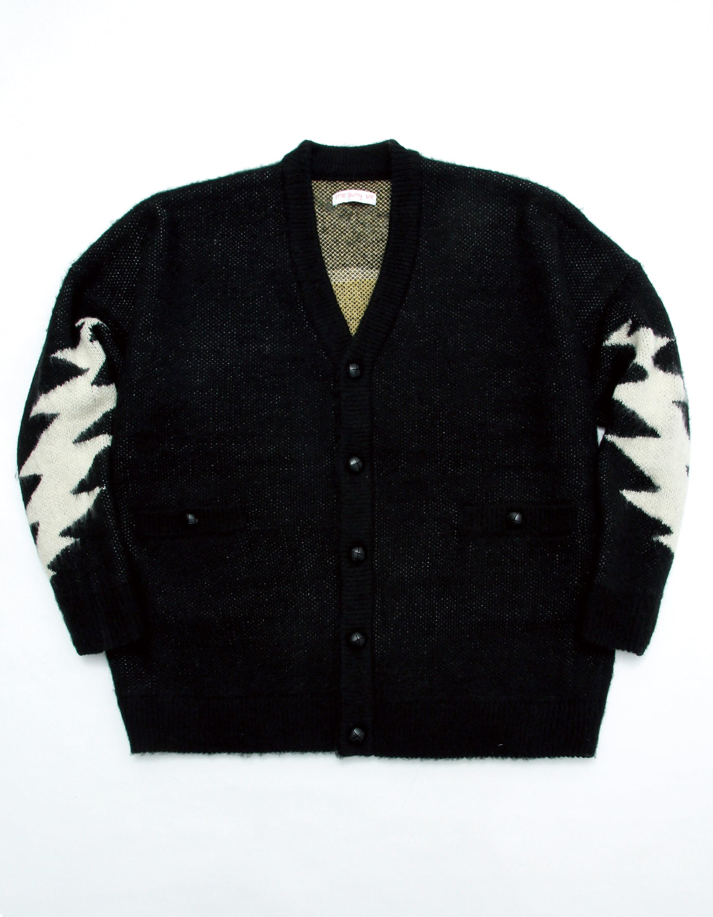 Grateful Dead x little sunny bite Knit cardigan / BLACK