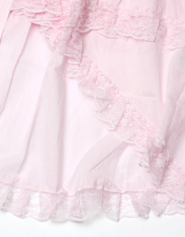 FRILLED BLOUSE / PINK