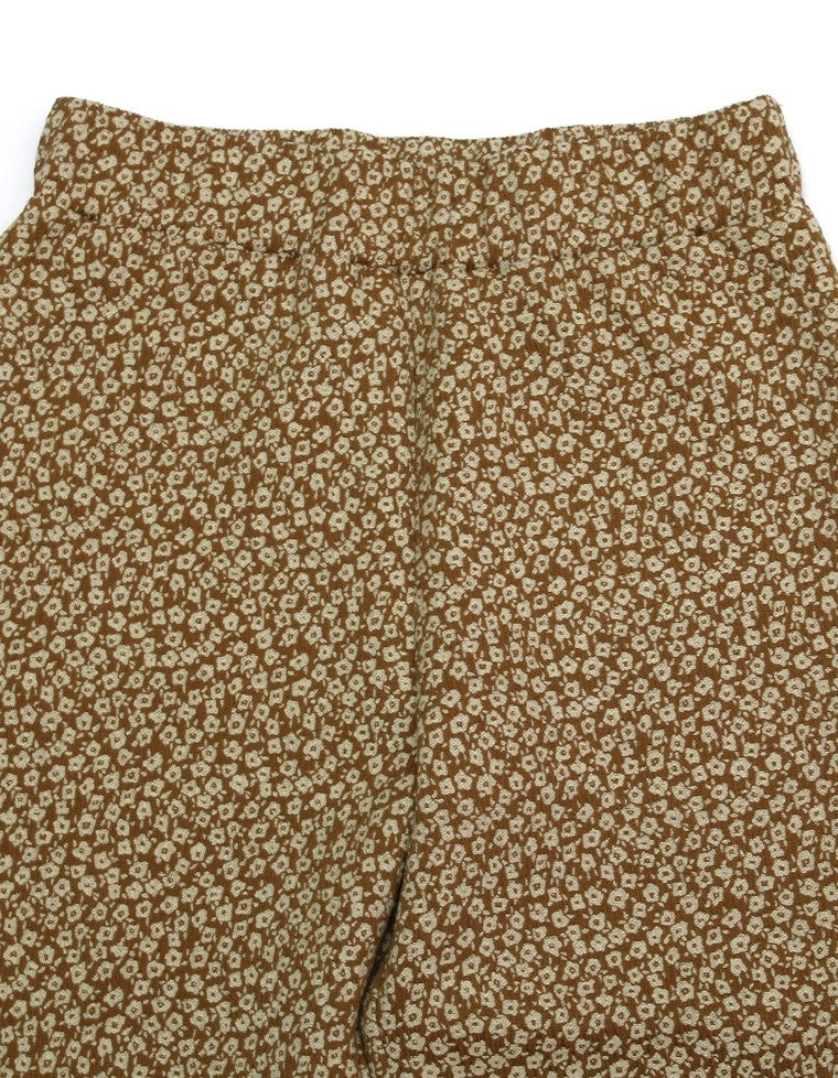 FLOWER PANTS / BROWN