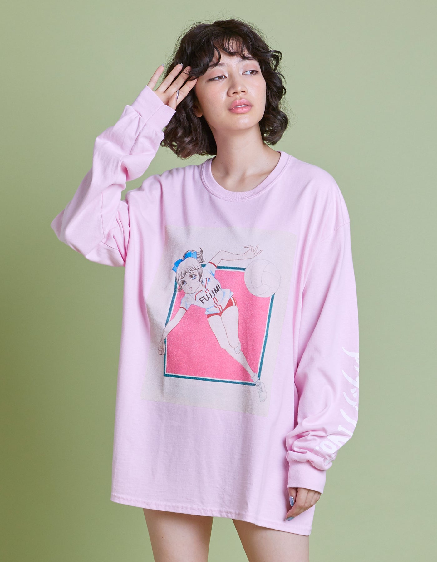 アタックNO1 x little sunny bite Comic long tee / PINK