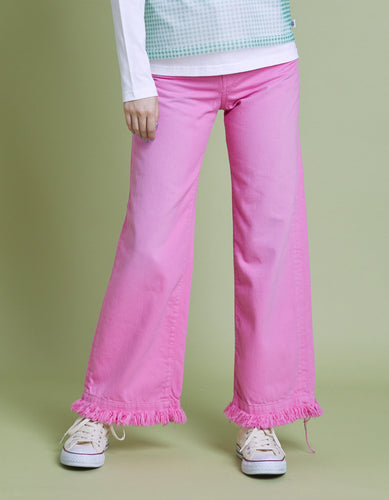 Original colored denim washed pants / PINK