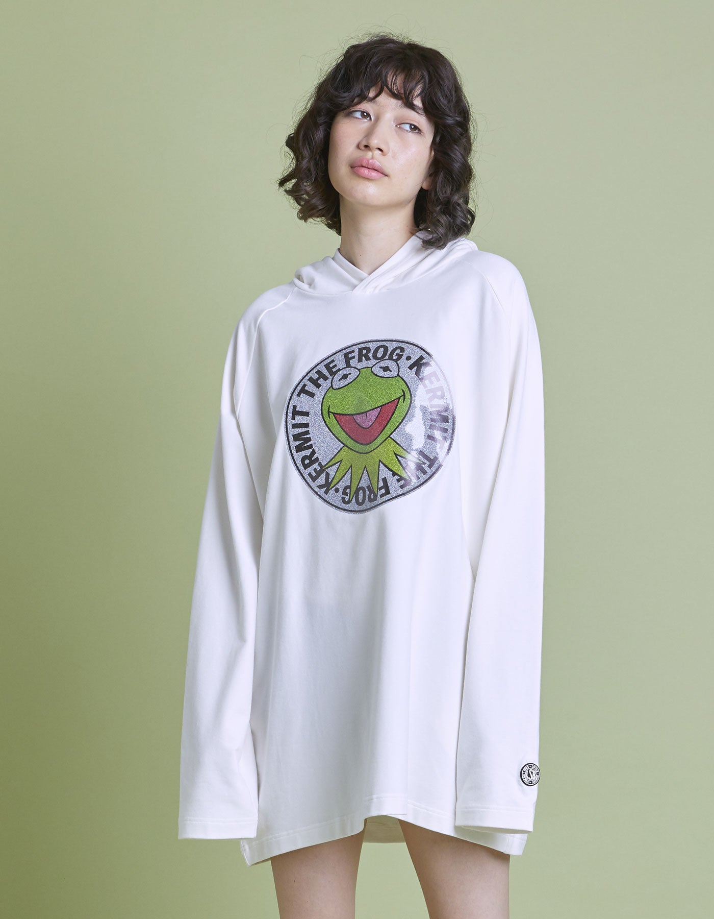 The Muppets x little sunny bite Cut hoodie / WHITE