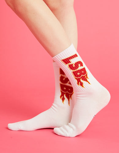 LSB fire socks / WHITE