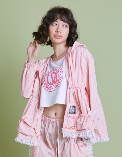Nylon girly jacket / PINK