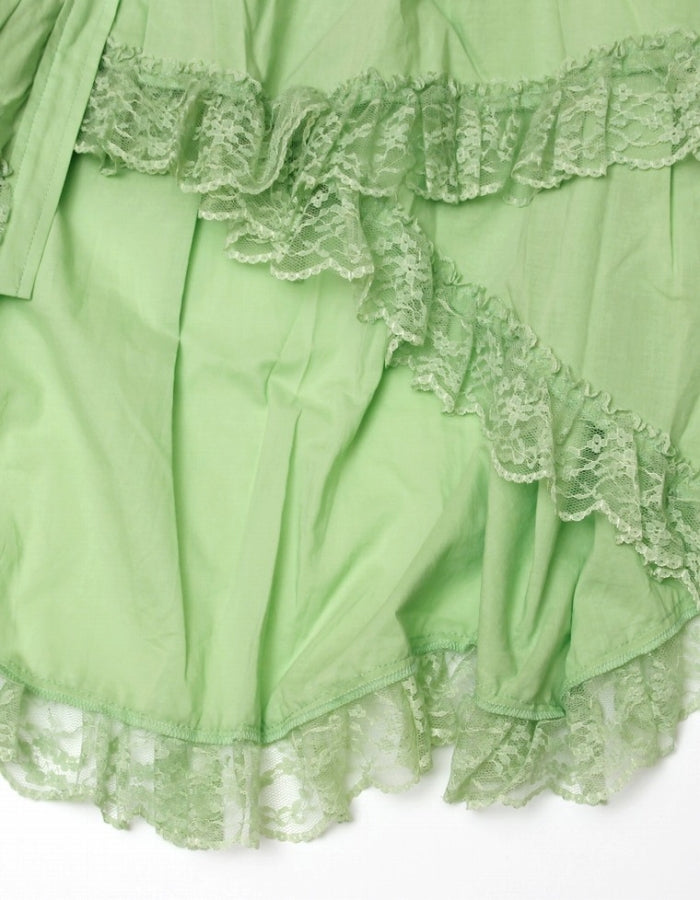 FRILLED BLOUSE / GREEN