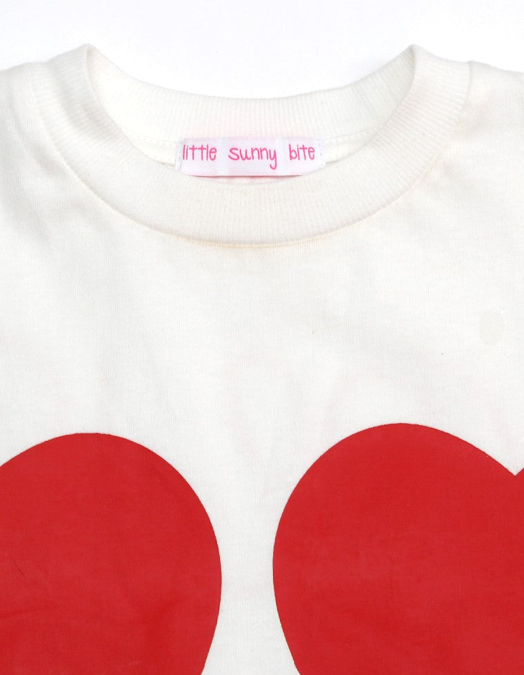 4 HEARTS BIG TEE / WHITE