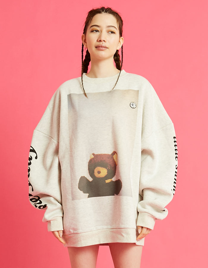 Photo big sweater top / OATEMEAL