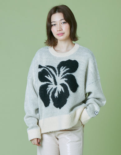 Hibiscus knit / WHITE