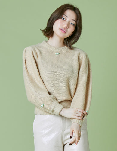 Mohair knit / WHITE