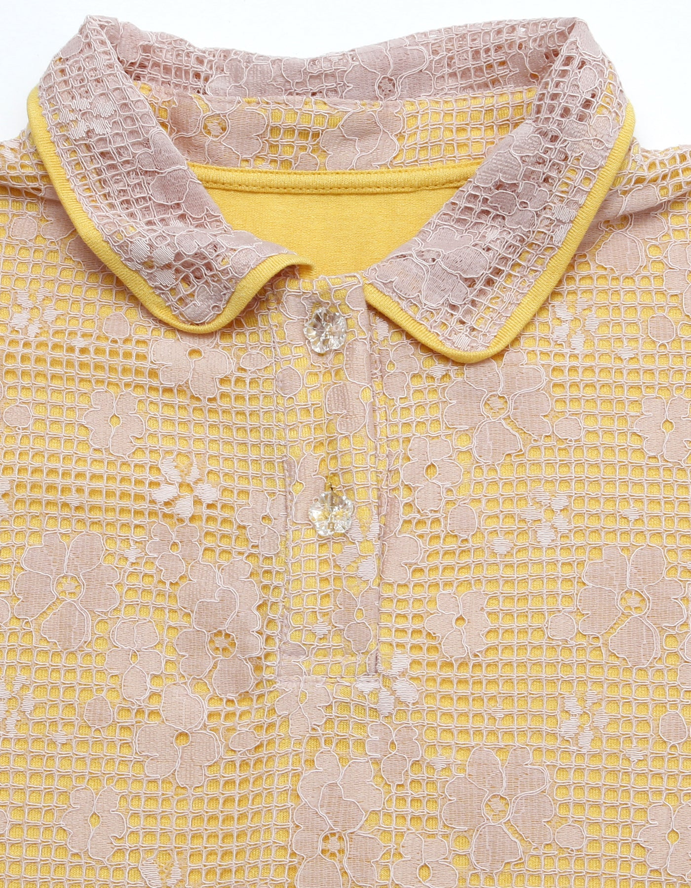 Lacy shirt / YELLOW