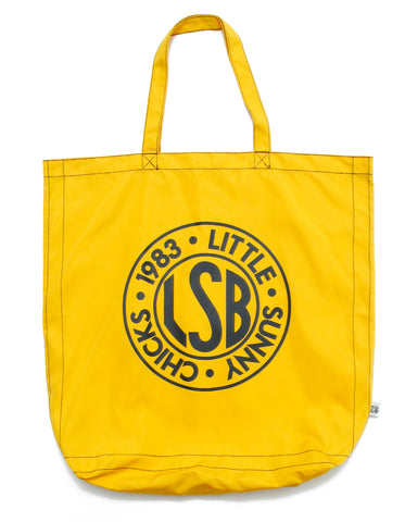 LSB logo nylon tote bag / YELLOW