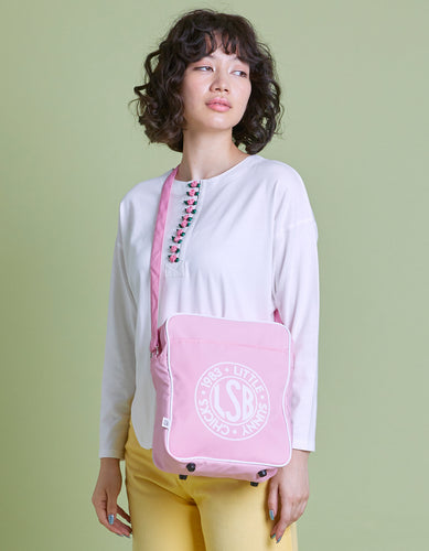 LSB Nylon logo shoulder bag / PINK