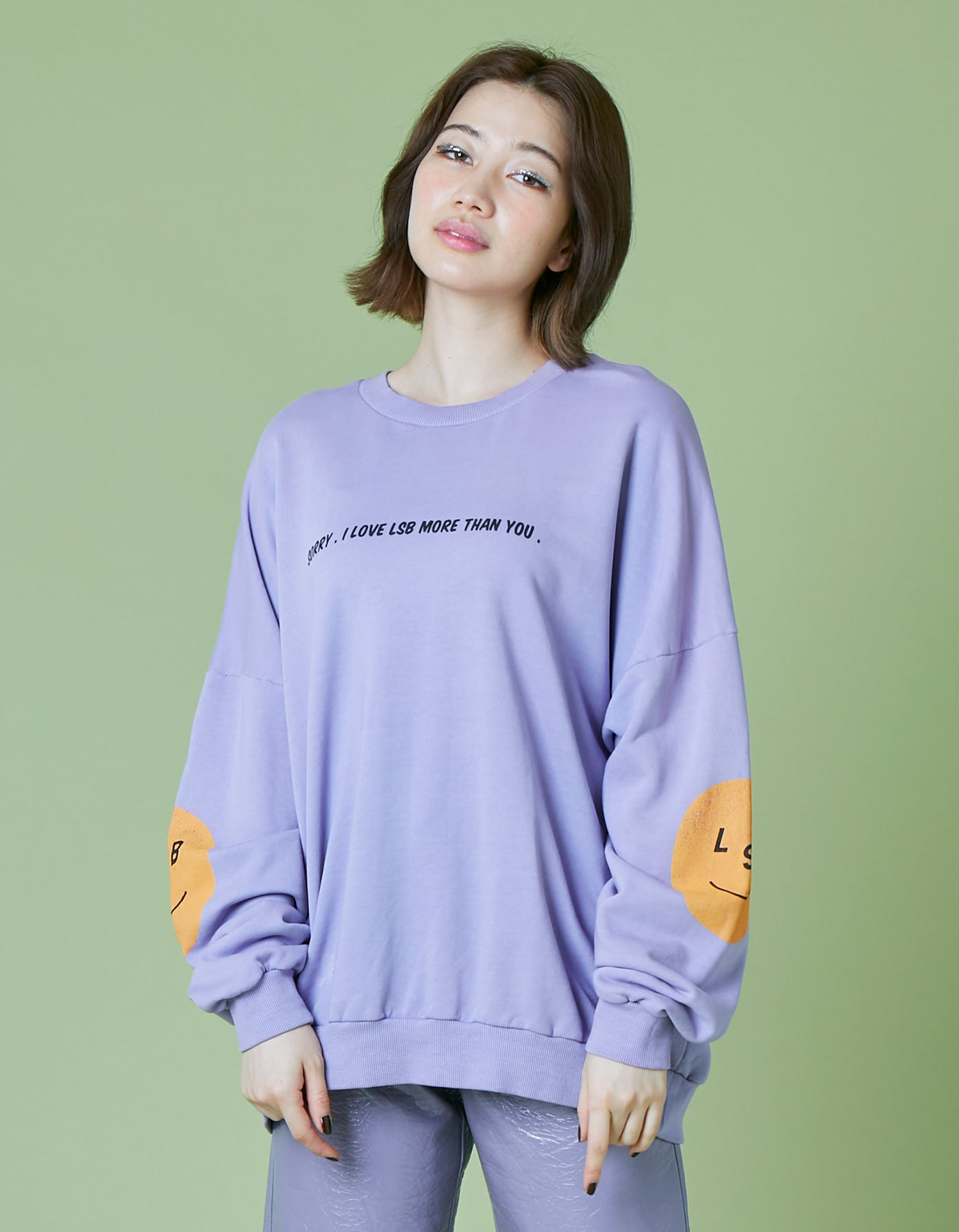 I'm sorry washed sweat top / PURPLE
